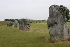 megalithic stone circle at avebury. wiltshire. england - stock photo