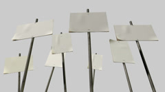 Strikers placards animated Stock Footage