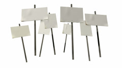 Strikers placards animated full Stock Footage