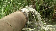 Broken water pipe Stock Footage