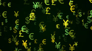 Stock Video Footage of currency background