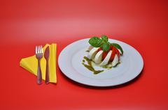 Stock Photo of Delicious caprese from mozarella