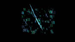 Abstract time overlay Stock Footage