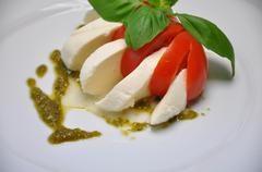 Delicious caprese from mozarella Stock Photos