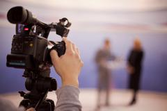 Tv broadcasting Stock Photos