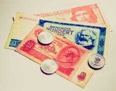 Retro look money Stock Photos