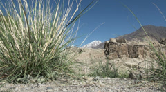 Old fort in the Wakhan valley Stock Footage