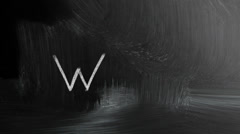 Web Handwritten With White Chalk On A Blackboard Stock Footage