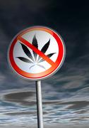 No drugs sign against the sky Stock Illustration
