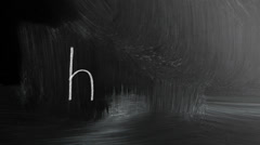 Html Sign Written With Chalk On Blackboard - stock footage