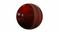 Stock Video Footage of cricket ball revolve