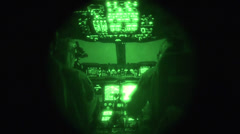 C-17 Night Flight 01 - stock footage