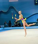 Kiev-29 elokuu: 32. rytmisen voimistelun MM-kisoissa elokuun 29,2013. Kuvituskuvat