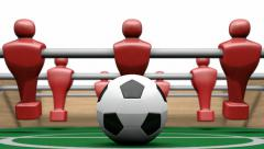 Foosball kickoff animation front Stock Footage