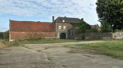 Hougoumont farm, South gate, Waterloo battlefield, Belgium Stock Footage