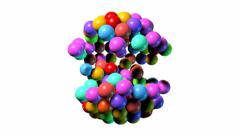 Tombola spin balls only Stock Footage