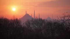 Sunset in Suleymaniye Stock Footage