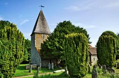 Rodmell Church in East Sussex - stock photo