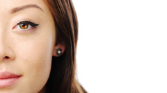 Beauty woman face - stock footage