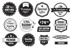 Retro Vector Vintage Seals, Labels, Stamps And Buttons Stock Illustration
