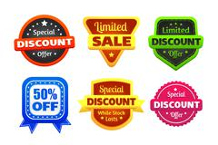 Limited Discount Sale Badges - stock illustration