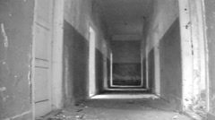 Horror Scene Concentration  Extermination war camp Stock Footage
