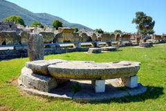 The ruins in ancient messene (messinia), peloponnes, greece Stock Photos