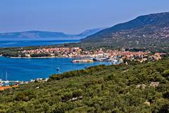 adriatic town of cres bay - stock photo