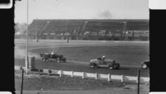 Hot Rod race. (Vintage 1940's 16mm film footage). Stock Footage
