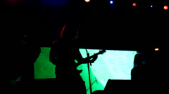 Stage Lights Heavy Metal band Stock Footage