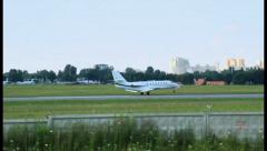 Travel Jet Cessna 680 Citation Sovereign landing, click for HD - stock footage