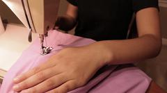 Sewing Close Up - stock photo