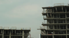 Condo construction. Timelapse. Stock Footage