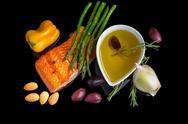 Stock Photo of mediterranean omega-3 diet.
