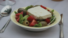 Greek salad, Closeup Stock Footage