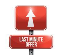 Stock Illustration of last minute offer road sign illustration design