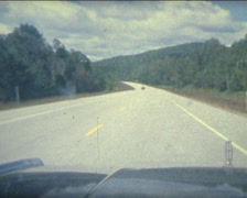 Super 8 USA driving a 1984 Mercury on a road in New Hampshire 2 Stock Footage