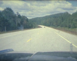 Stock Video Footage of super 8 USA driving a 1984 Mercury on a road in New Hampshire 2