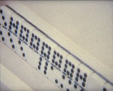 SUPER8 cuban dominos game Stock Footage