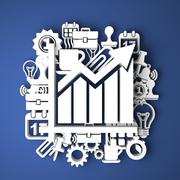 Stock Illustration of Infographic The Growth. Business Concept.