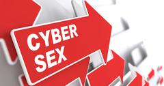 Cyber Sex Concept. Stock Illustration