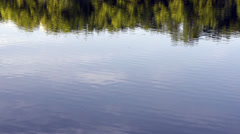 Tree reflections in a lake Stock Footage