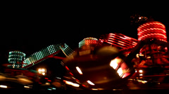 Carnival by night  luna park Stock Footage
