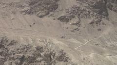 'Zigzag' road, Afghanistan, donkeys, transportation Stock Footage
