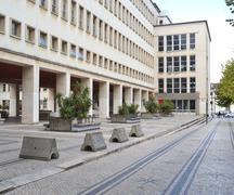 department of physics, university of coimbra - stock photo