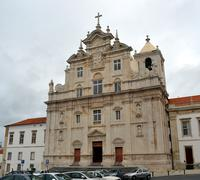 new cathedral of coimbra, university of coimbra, portugal - stock photo