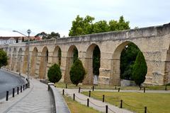 Arches garden of the university of coimbra Stock Photos
