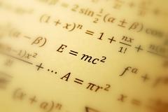 einstein formula of relativity - stock photo