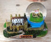 Cadre obidos castle glass Stock Photos