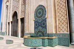 Yksityiskohta Hassan II Casablanca, Marokko .. Kuvituskuvat